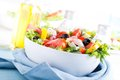 Fresh vegetable salad greek salad useful vitamin food Stock Photography