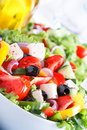Fresh vegetable salad greek salad useful vitamin food Stock Photo
