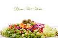 Fresh vegetable salad healthy green Royalty Free Stock Images