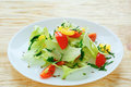 Fresh vegetable salad with iceberg lettuce food Stock Images