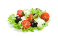 Fresh vegetable salad isolated on white background Stock Photo