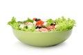 Fresh vegetable salad isolated on white background Stock Images