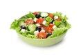Fresh vegetable salad isolated on white background Royalty Free Stock Photo