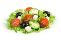Fresh vegetable salad isolated on white background Royalty Free Stock Photo