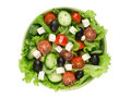 Fresh vegetable salad isolated on white background Royalty Free Stock Photography