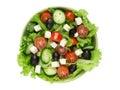Fresh vegetable salad isolated on white background Royalty Free Stock Photography