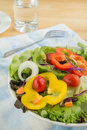 Fresh vegetable salad on plate white Stock Images