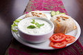 Fresh vegetable sandwich with nuts tomato and white sauce Stock Images