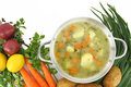 Fresh vegetable soup Royalty Free Stock Photos