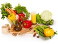Fresh vegetable on wooden boards. Stock Photography