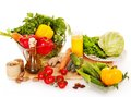 Fresh vegetable on wooden boards. Royalty Free Stock Images