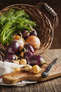Fresh vegetables in the basket organic Royalty Free Stock Photography