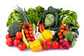 Fresh vegetables collection of on white background Royalty Free Stock Image