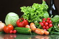 Fresh Vegetables fruits and other foodstuffs. Stock Photo