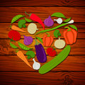 Fresh vegetables illustration of abstract on wooden background Stock Images