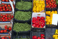 Fresh vegetables market Royalty Free Stock Images