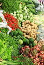 Fresh vegetables in market asia thailand various at the Royalty Free Stock Photos
