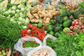 Fresh vegetables in market asia thailand various at the Stock Photos