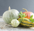 Fresh vegetables on old wooden table from the series autumn Royalty Free Stock Photo