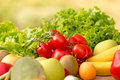 Fresh vegetables organic on a table Stock Photography
