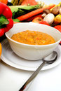 Fresh Veggies And Vegetable Soup Royalty Free Stock Image
