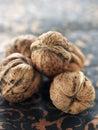 Fresh walnuts Royalty Free Stock Photography