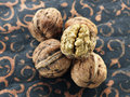 Fresh walnuts Stock Photo
