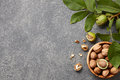 Fresh walnuts bowl Royalty Free Stock Photo