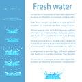 Fresh Water Advert Banner with Text, Geizer Set