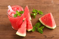Fresh water melon drink Royalty Free Stock Photo