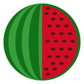 Fresh watermelon flat icon, vector sign