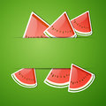 Fresh watermelon illustration of an abstract background with Royalty Free Stock Photography