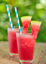 Fresh watermelon juice in summer time Royalty Free Stock Image