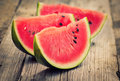 Fresh watermelon slices Royalty Free Stock Photo