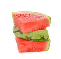 Fresh watermelon on a white background Royalty Free Stock Image