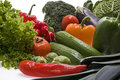 Fresh, wet vegetables. Royalty Free Stock Photo