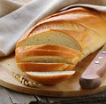 Fresh white loaf of bread Royalty Free Stock Photo