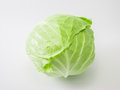 Fresh whole green cabbage Royalty Free Stock Photo