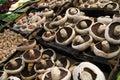 Fresh whole white button mushrooms Royalty Free Stock Photo