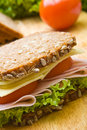 Fresh wholemeal sandwich Royalty Free Stock Photo