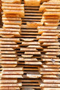 Fresh wooden studs stack of new at the lumber yard Stock Images