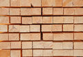 Fresh wooden studs stack of new at the lumber yard Royalty Free Stock Photography