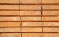 Fresh wooden studs stack of new at the lumber yard Royalty Free Stock Image
