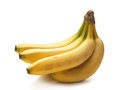 A fresh yellow banana on a white background Stock Images