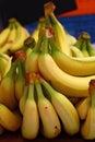 Fresh Yellow Bananas On Retail...