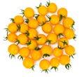 Fresh Yellow Cherry Tomato on Whyite Background Royalty Free Stock Photo