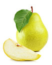 Fresh Yellow Pear On White Bac...