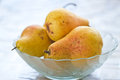 Fresh yellow pears Stock Photography