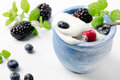 Fresh  yogurt Stock Photo