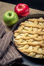 Freshly baked apple pie Stock Photography